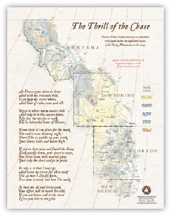 too far to walk forrest fenn pullout map Book Covers